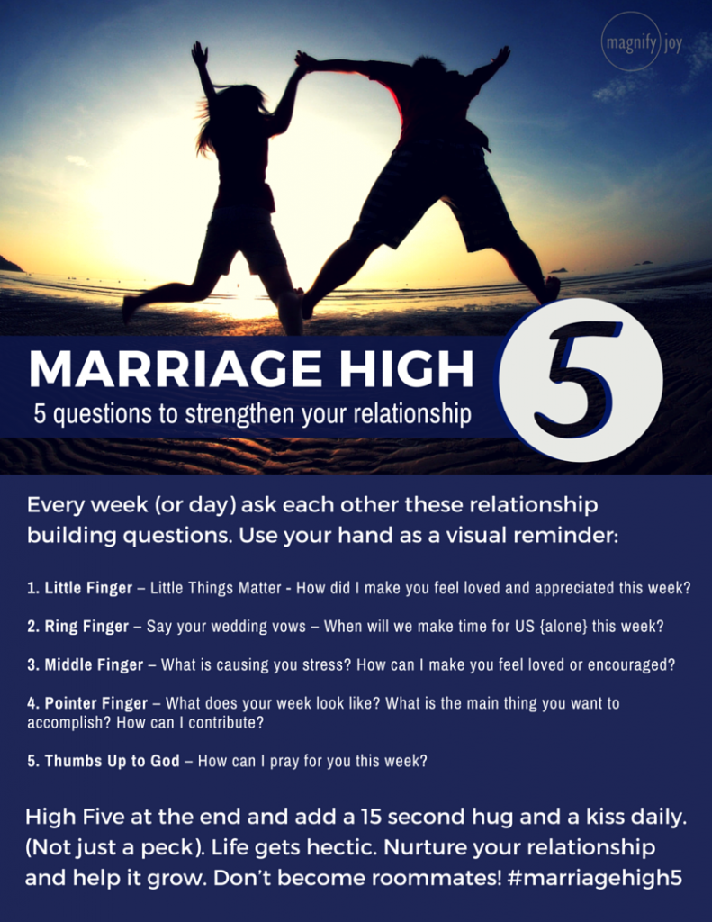 Marriage High Five - jumping high five - Magnify Joy