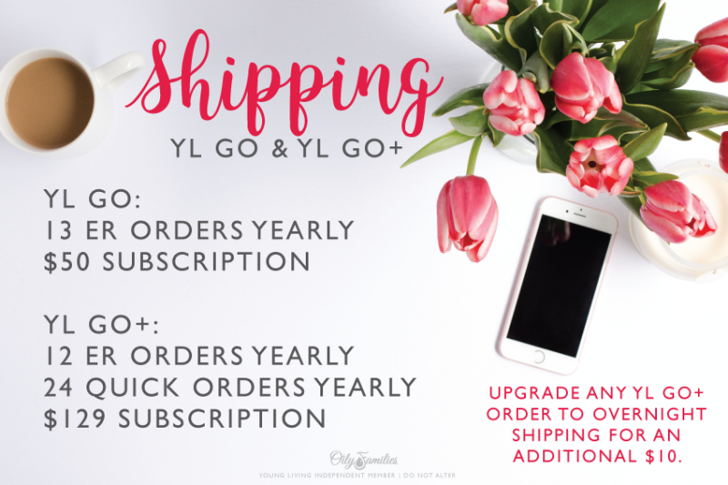 11. SAVE ON SHIPPING Another benefit of being an Essential Rewards member is being able to join the YL Go program. This is a shipping subscription program where you pay once for your YL Go membership and then don't get charged for shipping on your Essential Rewards orders! For this introductory cycle, you get 13 ER orders shipped for your $59 membership fee. If you were paying even $6 shipping per order before, you're going to save at least $19 per year. Odds are good that you're going to save even more than that though because…. There's NO LIMIT on what you can ship in your box! Need an 8-pack of NingXia Red? No extra charge! Need a big Thieves Cleaner refill? No extra charge! Order as much as you want without paying any extra shipping with your YL Go subscription. If you're like me and KNOW that you're going to have some quick orders thrown in throughout the year, you may want to consider the YL Go+ subscription. This $129 option gives you 12 ER orders plus 24 quick orders without paying shipping. And there's still no limit on what you can ship in each box! You can use those 24 quick order credits to grab items that come back in stock or that go on sale. You can use those credits to redeem your Essential Rewards points. You can even ship Young Living goodies to a friend or family member! You can also upgrade to overnight shipping for just $10 extra per order! You'll see the YL Go and YL Go+ options appear once you've signed up for the Essential Rewards subscription program! So what HEAVY favorites would you put into your YL Go/Go+ boxes?