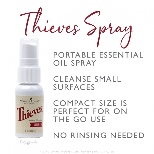 Thieves Spray Young Living Essential Oils magnifyJOY